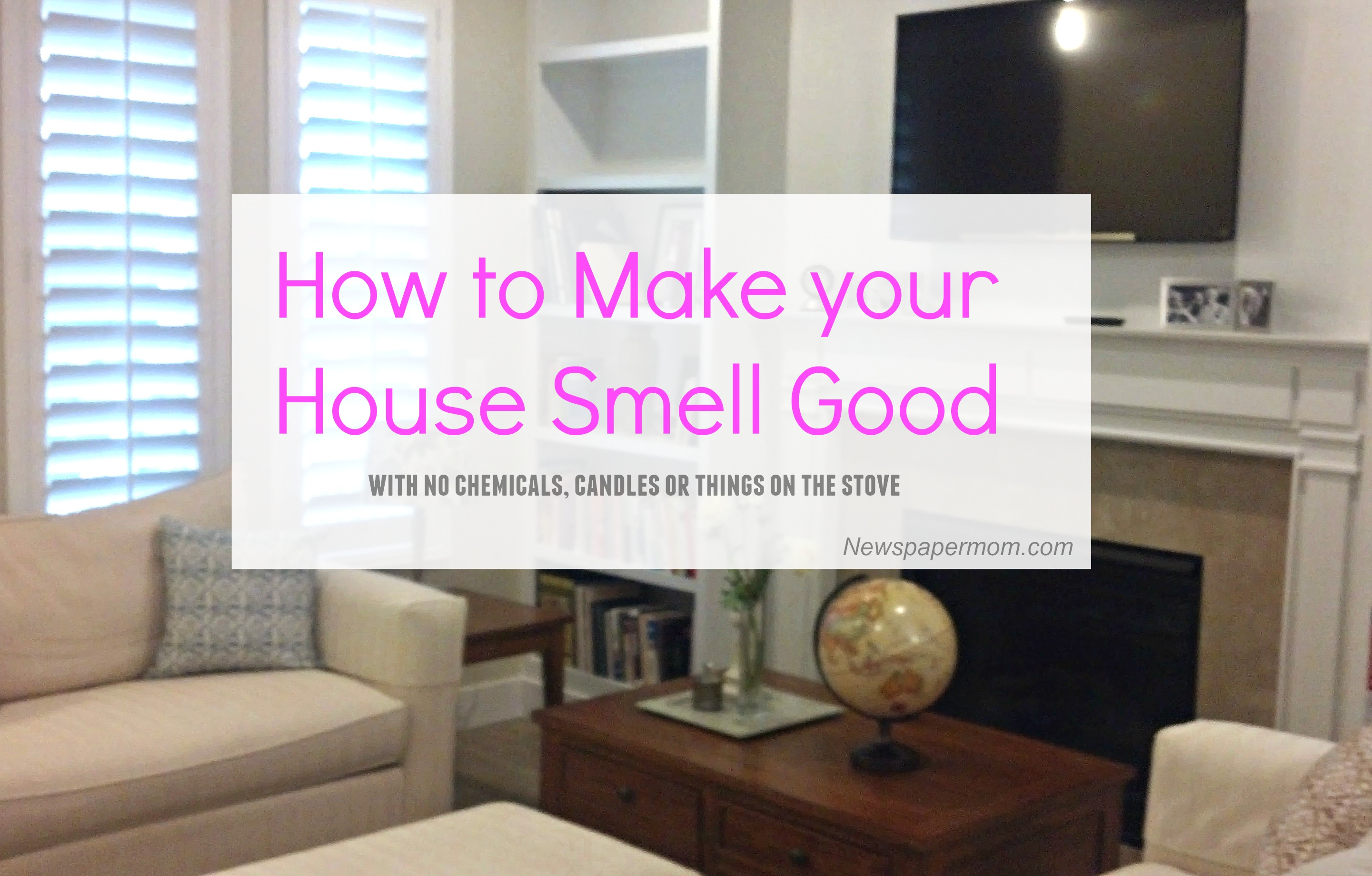 how to make your house smell good and improve your health too