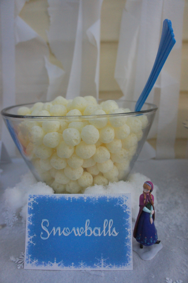 Frozen party food - snowballs