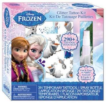 Frozen temporary tattoos
