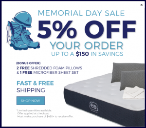 Brooklyn Bedding Memorial Day Sale
